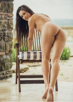 Beautiful nude bottom bent over