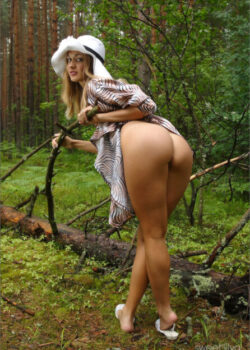 Next door Russian girl Sweet-Lilya youthful innocence in nature