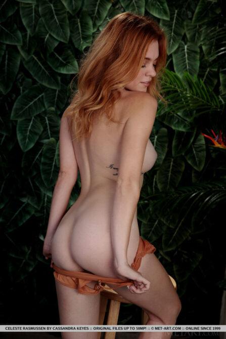 Breathtaking nude lady Celeste Rasmussen big green eyes