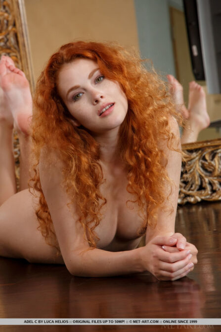 Bombastic busty redhead Adel is like fire in the bedroom