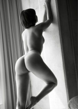 Black and white nudes of Cali a secret beauty