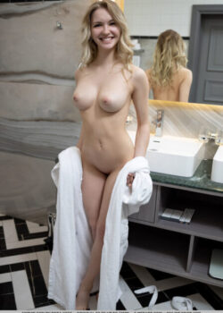 Tiny bombshell with superb breasts a delicious Belarusian beauty